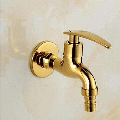 Lavadora de baño montada en la pared Gold Bibcocksbrassoutdoorgarden Faucet