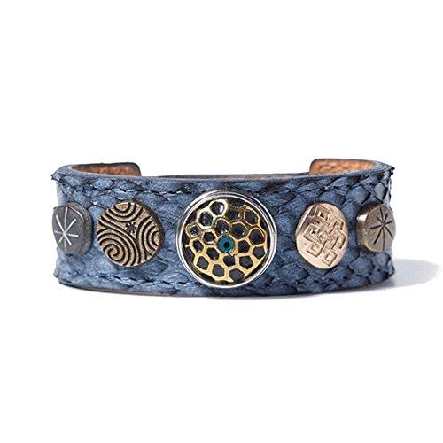 Noosa Amsterdam Women's Bracelet Leather Blue WBS 1222–S blue