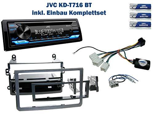 Autoradio Einbauset geeignet für Nissan 350Z inkl. JVC KD-T716BT & Lenkrad Fernbedienung Adapter in Schwarz