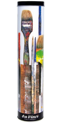 da Vinci Oil & Acryl Serie 5405 Top Acrylpinsel Set, Synthetik mit Geschenkdose, mehrere Größen, 10 Pinsel (Serie 7185 und 7785)