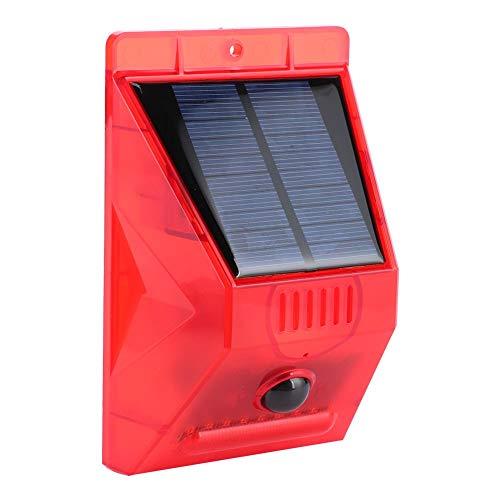 Qinlorgo Luz de Alarma de Sirena, Alarma Solar de Control Remoto, lámpara de Seguridad de 129db, Yardas Impermeables, Villas, garajes para Granjas, graneros