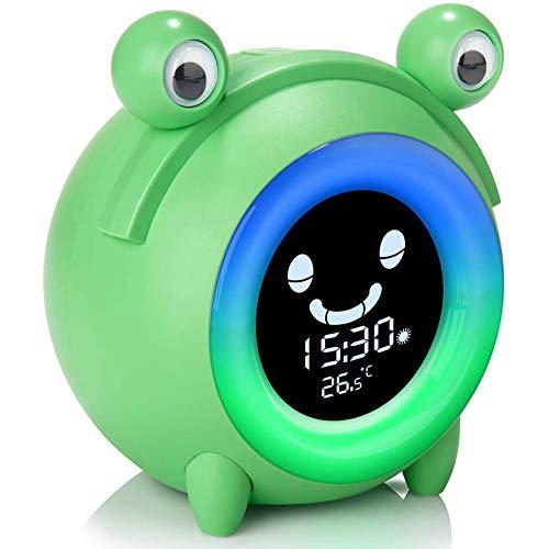 Huante despertador para niños, despertador digital para niños, luz nocturna para su sueño