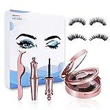 Magnetische Wimpern 4 Parr,3D Magnetwimpern mit Eyeliner,Wimpern Magnetisch Eyeliner,Magnetic Lashes Natural Look