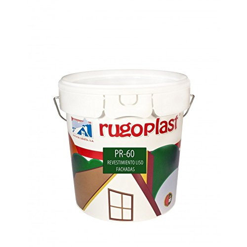 Pintura máxima calidad de exteriores blanca revestimiento liso ideal para decorar las paredes exteriores de tu casa PR-60 Blanco (4 L) Envío GRATIS 24 h.