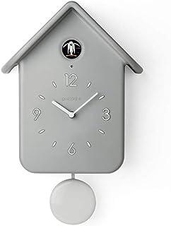 Horloge /à Coucou Horloge de Rapport Doscillation Design de Style Nordique Simple et Moderne pour la D/écoration de Salon de Chambre /à Coucher de Bureau D/école,Grey