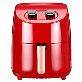 Freidora de Aire Freidora De Aire 1000W Horno De Cocina Aceite GRATUIENTE Horno De Cocina Saludable Baja En Grasa 3.5L para Saludable Sin Aceite (Color : Red, Size : 3.5L)