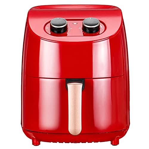 CuteLife Freidora de Aire Freidora De Aire 1000W Horno De Cocina Aceite GRATUIENTE Horno De Cocina Saludable Baja En Grasa 3.5L Reemplace la Freidora (Color : Red, Size : 3.5L)