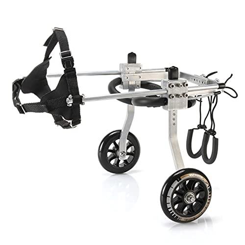 Petit Fauteuil Roulant pour Chiens pour Les Jambes Arrière Handicapées, Fauteuil Roulant pour Animaux de Compagnie Paralysé Paralysie Générale Scooter de Chien Roues de Marche Roues ( Size : Medium )