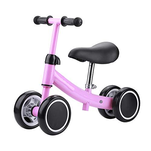 Balance Training Mini Bike Scooter Walker Scooters para Bebés De 1 A 2 Años Y Niños Pequeños (Rosa)