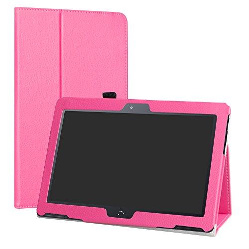 "LiuShan BQ Aquaris M10 Funda, Folio Soporte PU Cuero con Funda Caso para 10.1"" BQ Aquaris M10 Android Tablet,Rosa"