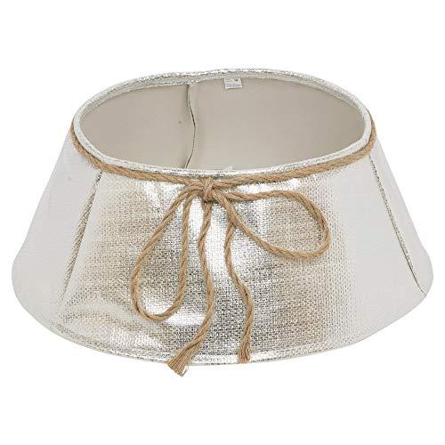 URBNLIVING Elegant Christmas Tree Skirt (Silver)