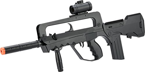 Double Eagle Spring FAMAS French Assault Rifle FPS-200, Silencer Airsoft Gun