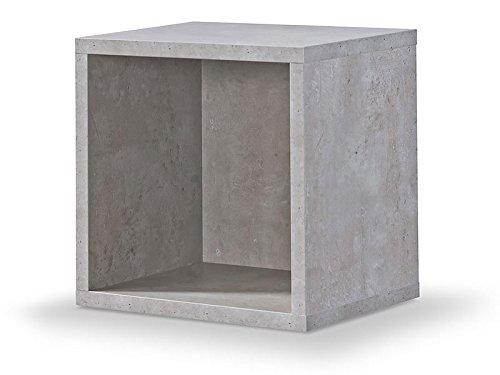 Regal Betonoptik, Regalwürfel, Cube Betonoptik, Click System: Keine Schrauben und Dübel