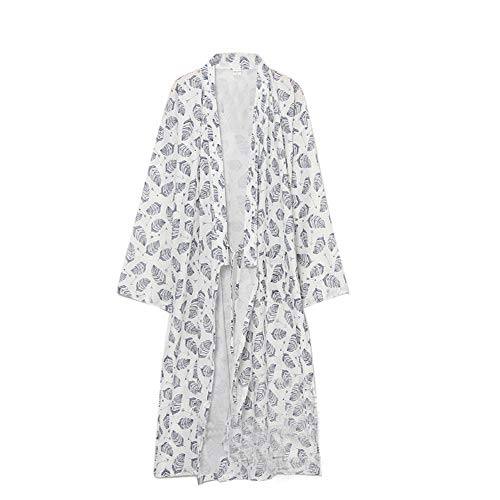 Fancy Pumpkin yukata de los s robe kimono Robe Khan pijamas de ropa al vapor para Hombre L Blanco