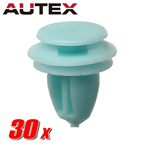 AUTEX 30pcs Door Trim Panel Lining Fastener Rivet Push Clips Retainer Nut Replacement for Honda Accord Crosstour Civic CR-V Element Odyssey Pilot Ridgeline Replacement for Acura ILX Hybrid RDX RL