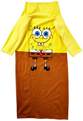 Nickelodeon Spongebob Squarepants, Being Bob Adult Comfy Throw Blanket with Sleeves, 48' x 71', Multi Color