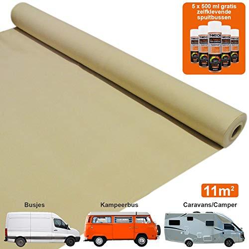 Bekleding bedrijfswagen - Kleur: Tarwe - Interieur - Bus - Busje - GRATIS 5 blikken multifunctionele lijm - rekbaar - vrachtwagen - caddy