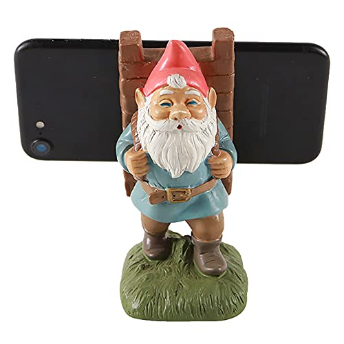 LotCow - Supporto per telefono con Babbo Natale per la scrivania, con slot di ricarica e antiscivolo a forma di cartone animato, base per telefono, statuette creative, statuette e feste di Natale
