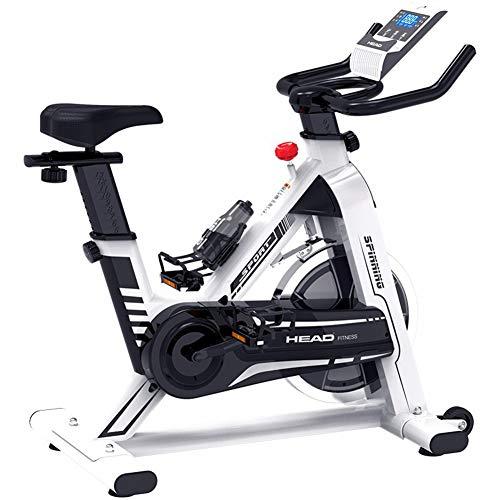 Xue Cubierta de Bicicleta de Ejercicios Spinning Ciclismo Bicicleta estacionaria W/Pantalla LCD de Ritmo cardiaco Ajustable Pie Equipo de la Aptitud