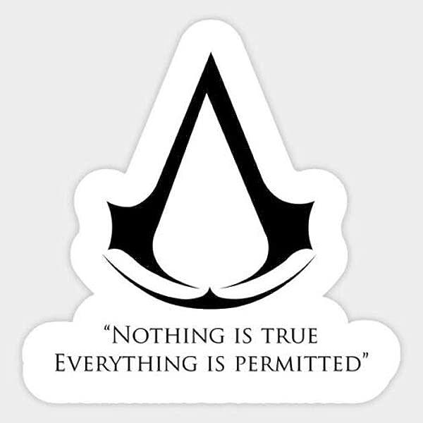 Vinyl Sticker Assassin S Creed Logo Car Bumper Laptop Water Bottle Window 3 Inch Max Size