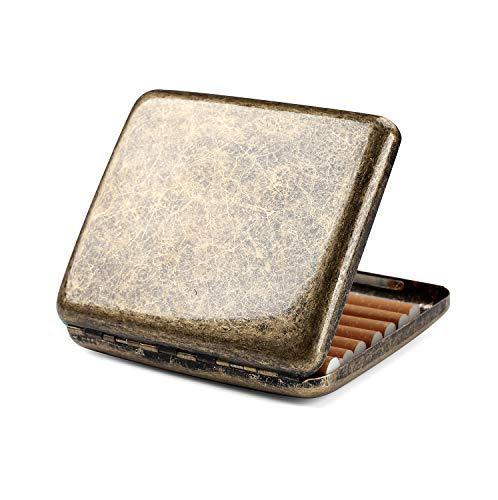 Zigarettenetui Metall Zigarettenschachtel für 20 Zigaretten, antik Zigarettenetui mit Gravur elegantem Aussehen und besonderem Qualitäten (Vintage)