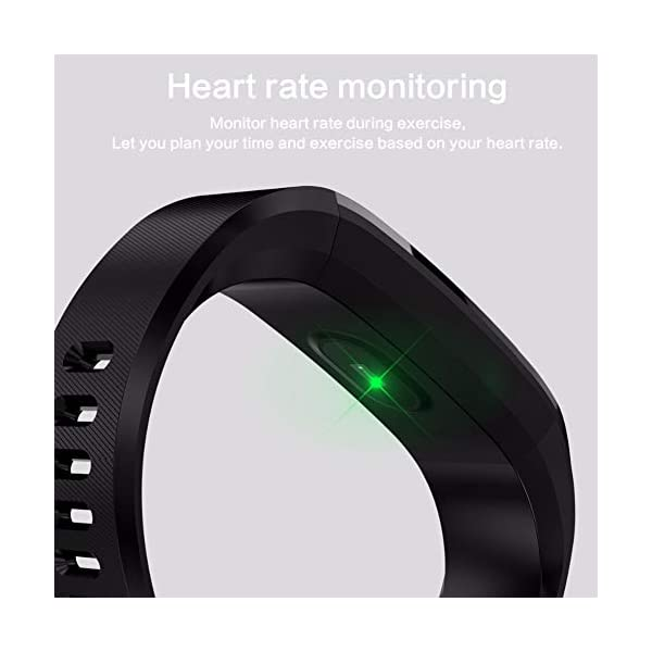 Leobtain Fitness Tracker Pantalla a Color Monitor de Ritmo Cardíaco Presión Arterial Pulsera Inteligente Relojes… 4