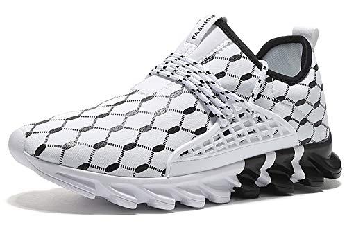 Zapatillas de running para hombre, transpirables y modernas., Blanco (blanco), 44 EU