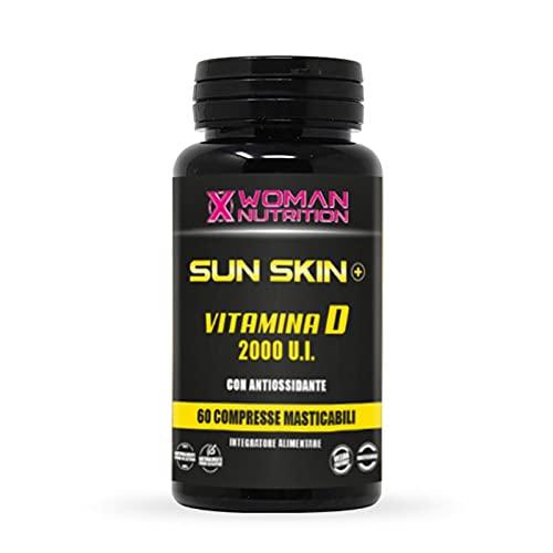 Sun Skin Plus Vitamina D3 masticable de alta dosificación – 2000 U.I. alta absorción