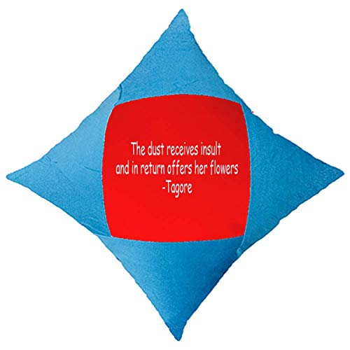 OFFbb-USA Qoutes sanación frases recibe insultos retorno flores manta almohada azul funda funda funda decorativa para cama de coche