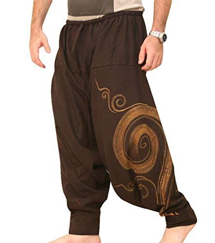 EUFANCE Hombre Pantalones Harem Cómoda Cintura Elástica Pantalones Moda Color Sólido...