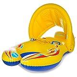#N/A Baby Schwimmring mit Sonnendach Aufblasbares Kinderboot Schwimmhilfe Baby Pool Schwimmring Schwimmen Ring Schwimmsitz und Mutter Schwimmreifen Schwimmen Ring Pool Boot Spielzeug UV-Vorbereitung