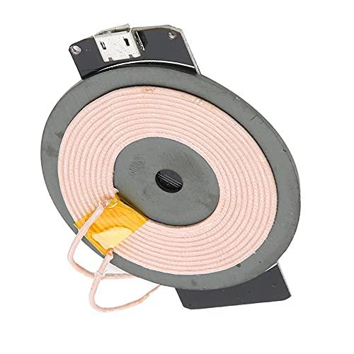Cargador inalámbrico de 5 W, módulo de carga inalámbrico PCBA, cargador universal, módulo transmisor de placa de circuito de bricolaje, carga inalámbrica de bobina, para teléfonos celulares estándar