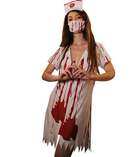 365-Shopping Damen Lingerie Dessous-Sets Babydolls Pflegeuniformen Krankenschwester Kostüm Nurse Uniforms Versuchung Cosplay Rollenspiele (Type 3)