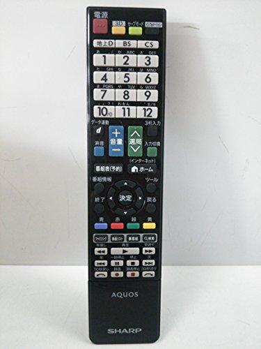 シャープ 液晶テレビ(AQUOS)純正リモコン GB026WJSA(0106380386)