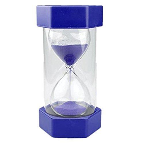 EQLEF Clessidra, 60 Minuti Clessidra Bambini Timer di Sabbia Clessidra Orologio Timer per Classe Cucina Giochi Ufficio Decorazione (Blu, 60 Minuti)