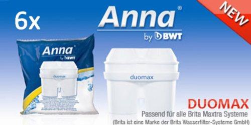 6 Anna Duomax Wasserfilter Kartuschen für Brita Maxtra