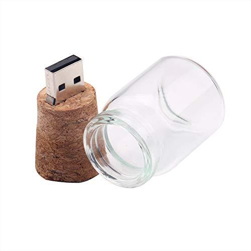 Grborn Drift Flasche Stil Pendrive 8G Wunsch schwimmenden Flaschen USB Flash Drive Plug Holz Flash Memory Stick U Disk für PC