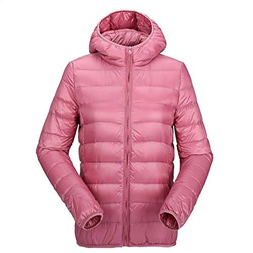 YRFHQB Winterdonsjas voor dames, ultralicht dons, 90% dons, korte jas, met capuchon, donsparkas van hoge kwaliteit, herfst outwear