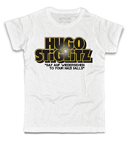3stylercollection, Bastardi Senza Gloria t-Shirt Uomo – Hugo Stiglitz, Colore: Bianco, Taglia: Medium