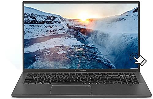 "2021 Newest ASUS VivoBook 15.6"" FHD Touchscreen Laptop, Intel 10th Gen i5-1035G1 (Up to 3.60GHz, Beat i7-8550U), 12GB RAM, 512GB PCIE SSD, Fingerprint, HDMI, WiFi, Windows 10, w/GM Accessories"