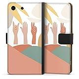 DeinDesign Étui Compatible avec Sony Xperia M5 Étui Folio Étui magnétique Été Main Couleur