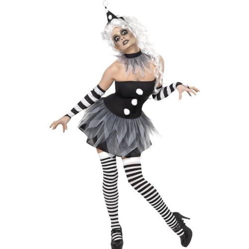 Smiffys Costume Pierrot Sinistro, comprende Abito, Collare, Cappello e Polsini