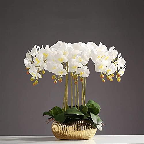 ikea vaas roze met gouden bloemen