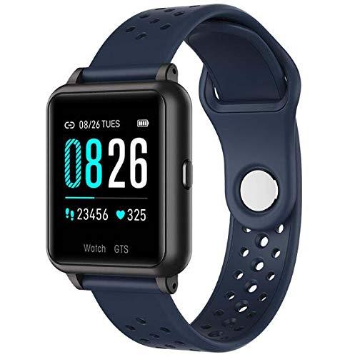 Fitness Tracker Pulsera inteligente, IP67 Rastreador de actividad impermeable con temperatura corporal Monitor de sueño Reloj contador de calorías, Pulsera inteligente para mujeres y hombres,Azul