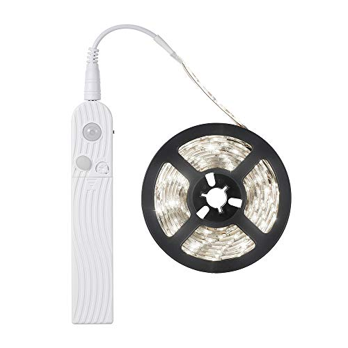 Galapara LED Band mit Bewegungsmelder,LED Schrankbeleuchtung,3 Meter 180 LEDs Schrank Beleuchtung LED Stripe Batteriebetriebene Nachtlicht mit PIR-Bewegungssensor Lichtband