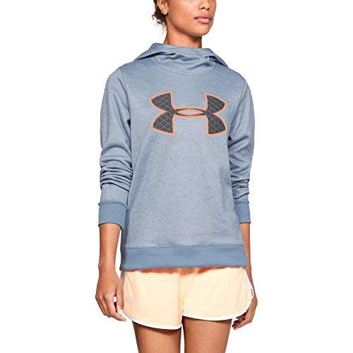 Under Armour Women's Synthetic Fleece Pullover, Washed Blue (421)/Utility Blue, X-Small