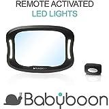 Babyboon Miroir Auto bébé Lumière LED – Vous Permet de Voir Votre Enfant installé dans Un siège orienté vers l'arrière avec Une Vue et Une clarté exceptionnelles.