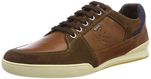 Geox U Kristof B, Zapatillas para Hombre, Marrón (Browncotto C6003), 45 EU