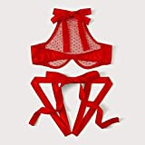 Sexy Lingerie Women Lace Hollow Out Tops BriefsSexy Underwear Erotic Costumes for -Red_M