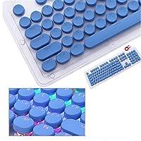 キーキャプス 1セットメカニカルキーボードキーキャップラウンドレトロスチームパンクキーキャップタイプライターチョコレートクリスタルトランスペアレントキーキャップ キーボードキーキャップ Wuyuana (Color : Red)